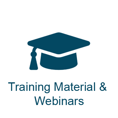 Training Material and Webinars