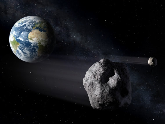 Asteroids passing Earth. Credit: ESA - P.Carril